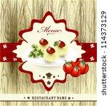 menu vector  design | Shutterstock .eps vector #114373129