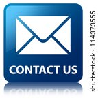 contact us glossy blue...   Shutterstock . vector #114373555