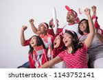 group portrait of young... | Shutterstock . vector #1143752141
