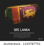 Sri Lanka Flag Made Of Glitter...