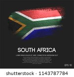 south africa flag made of... | Shutterstock .eps vector #1143787784