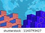 concept image of  usa eu trade... | Shutterstock . vector #1143793427