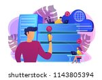 internet users with proxy... | Shutterstock .eps vector #1143805394