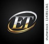 initial letter et logotype...   Shutterstock .eps vector #1143811361