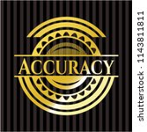 accuracy gold shiny emblem | Shutterstock .eps vector #1143811811