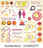 doodles info set | Shutterstock .eps vector #114381577