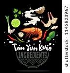 thai local food tom yum kung... | Shutterstock .eps vector #1143823967