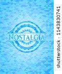 nostalgia sky blue emblem with... | Shutterstock .eps vector #1143830741