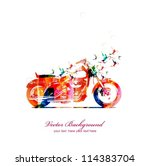 abstract motorbike with... | Shutterstock .eps vector #114383704