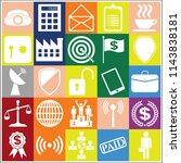 set of 25 business related... | Shutterstock .eps vector #1143838181