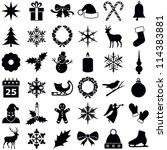 christmas and winter icons... | Shutterstock .eps vector #114383881