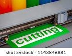 cutting plotter close up. the... | Shutterstock . vector #1143846881