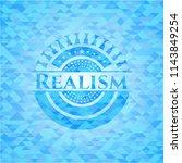 realism realistic light blue... | Shutterstock .eps vector #1143849254