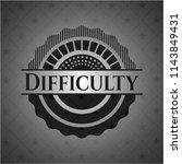 difficulty realistic dark emblem   Shutterstock .eps vector #1143849431