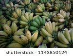 cluster of bananas type of...   Shutterstock . vector #1143850124