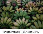 cluster of bananas type of...   Shutterstock . vector #1143850247