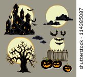 set of halloween elements | Shutterstock .eps vector #114385087