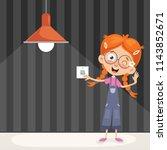 vector illustration of a kid... | Shutterstock .eps vector #1143852671