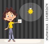 vector illustration of a kid... | Shutterstock .eps vector #1143852674