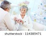 portrait of mature woman... | Shutterstock . vector #114385471