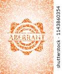 aberrant orange mosaic emblem...   Shutterstock .eps vector #1143860354