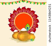 happy janmashtami design... | Shutterstock .eps vector #1143864251