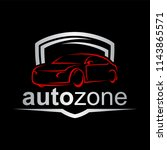 auto zone car logo | Shutterstock .eps vector #1143865571