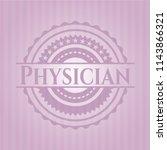 physician retro pink emblem | Shutterstock .eps vector #1143866321