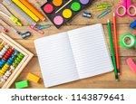 back to school concept. school... | Shutterstock . vector #1143879641