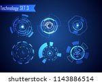 set of circle abstract digital...   Shutterstock .eps vector #1143886514