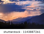 landscape mountains with...   Shutterstock . vector #1143887261