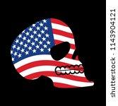 usa skull. head of skeleton and ...   Shutterstock . vector #1143904121