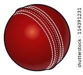 a red cricket ball. | Shutterstock .eps vector #114391231