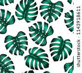 tropicla seamless pattern with... | Shutterstock . vector #1143918611