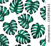 tropicla seamless pattern with... | Shutterstock . vector #1143918611