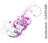 Stock vector calligraphic swirls 114392389