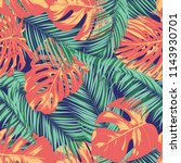 summer exotic floral tropical... | Shutterstock .eps vector #1143930701