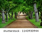beautiful stony alley road... | Shutterstock . vector #1143930944