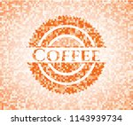 coffee abstract orange mosaic... | Shutterstock .eps vector #1143939734