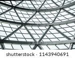 part of giant geodesic dome... | Shutterstock . vector #1143940691