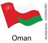 flag of oman. waving flag... | Shutterstock .eps vector #1143941987