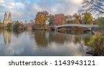 the bow bridge  is a cast iron... | Shutterstock . vector #1143943121