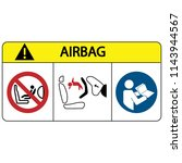airbags child safety seat logo... | Shutterstock .eps vector #1143944567