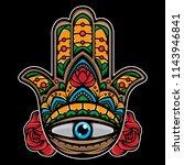 hand eye tattoo  vector eps 10 | Shutterstock .eps vector #1143946841