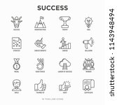 success thin line icons set ... | Shutterstock .eps vector #1143948494