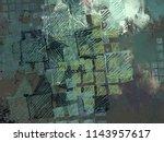 contemporary art. hand made art....   Shutterstock . vector #1143957617