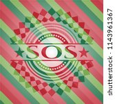 sos christmas colors style... | Shutterstock .eps vector #1143961367