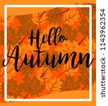 poster lettering autumn  with... | Shutterstock .eps vector #1143962354
