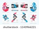 business abstract vector... | Shutterstock .eps vector #1143966221