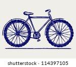 bike. doodle style | Shutterstock .eps vector #114397105